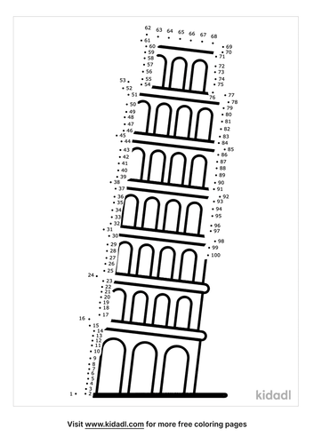 hard-leaning-tower-of-piza-dot-to-dot