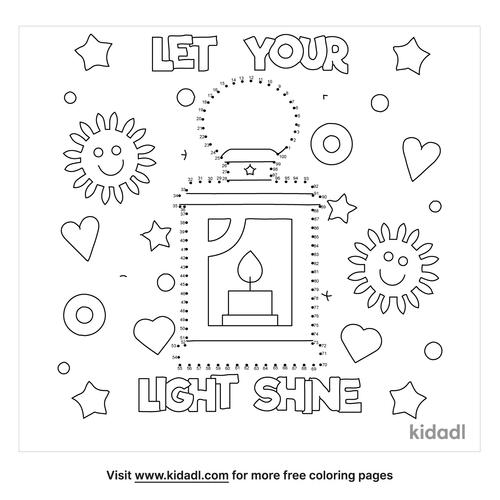 hard-let-your-light-shine-dot-to-dot