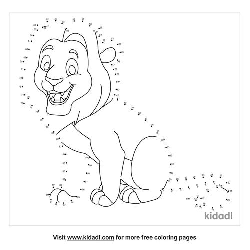 hard-lion-dot-to-dot