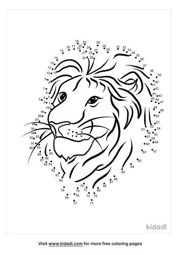 hard-lion-head-dot-to-dot