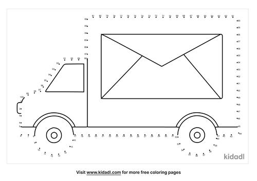 hard-mail-truck-dot-to-dot