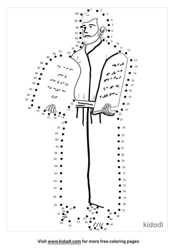 hard-moses-and-the-10-commandments-dot-to-dot
