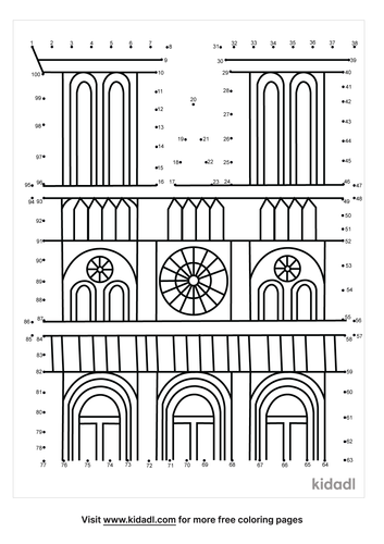 hard-notre-dame-cathedral-dot-to-dot