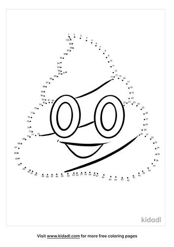 hard-poop-emoji-dot-to-dot