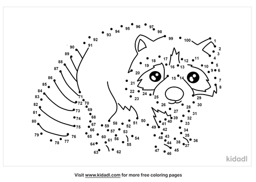 hard-raccoon-dot-to-dot