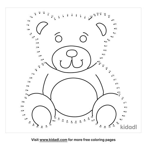 hard-teddy-bear-dot-to-dot