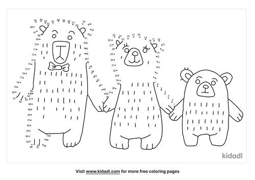 hard-three-bears-dot-to-dot