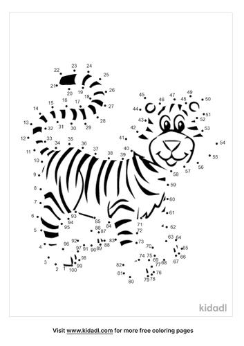 hard-tiger-dot-to-dot