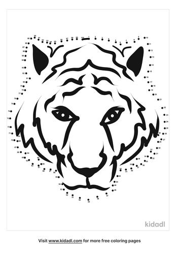hard-tiger-face-dot-to-dot