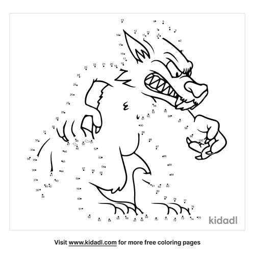 hard-werewolf-dot-to-dot