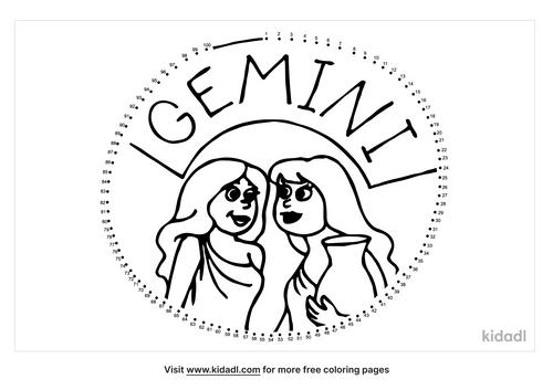 hard-zodiac-gemini-dot-to-dot