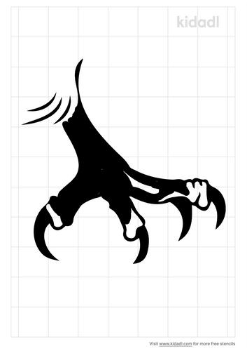 hawk-claw-stencil