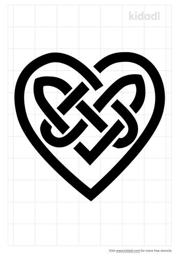 heart-celtic-stencil