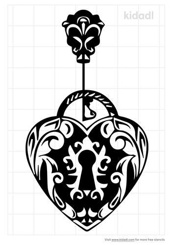 heart-locket-tattoo-2-keys-stencil