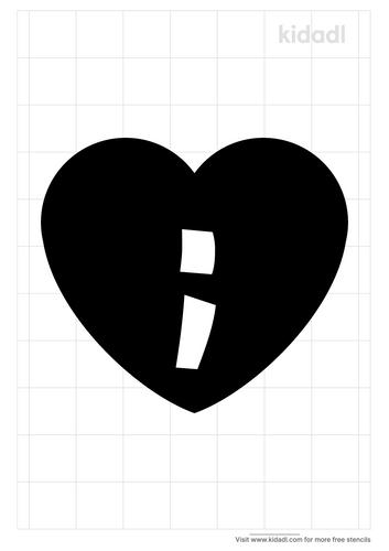heart-semicolon-tattoo-stencil