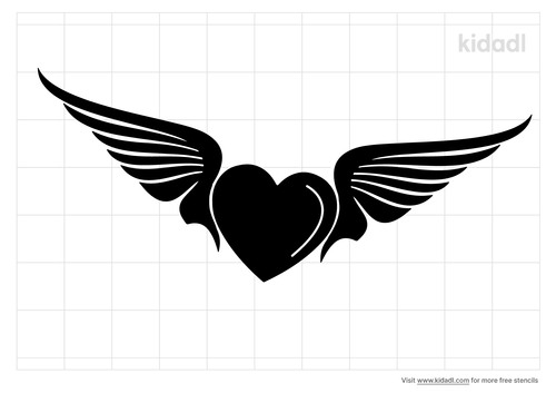heart-with-wings-stencil