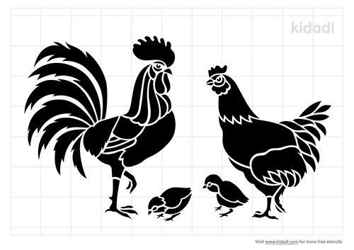hen-and-rooster-stencil