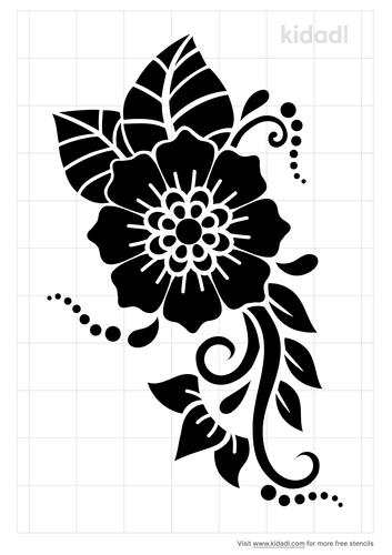 henna-flower-stencil