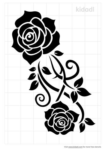 henna-rose-stencil
