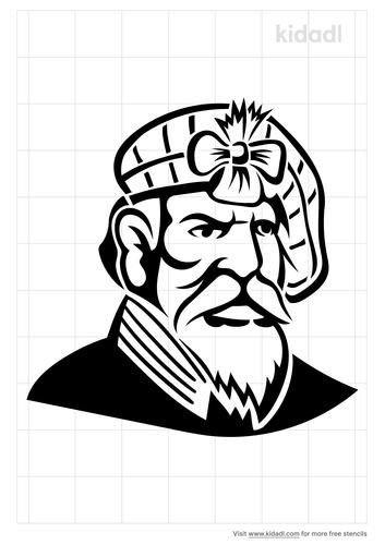 highlander-stencil