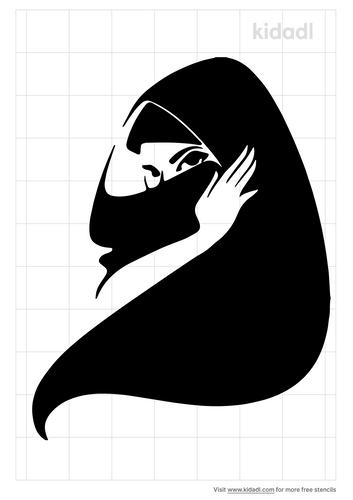 hijab-girl-stencil