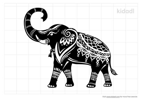 hindu-elephant-stencil