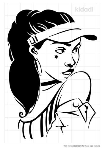 hispanic-woman-stencil