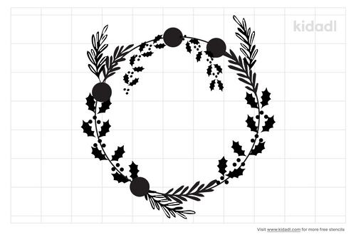 holly-wreath-stencil
