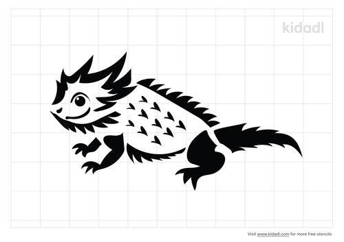 horny-toad-stencil