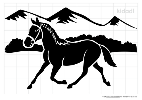 horse-and-mountain-stencil