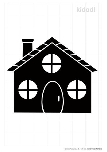 house-with-round-windows-stencil