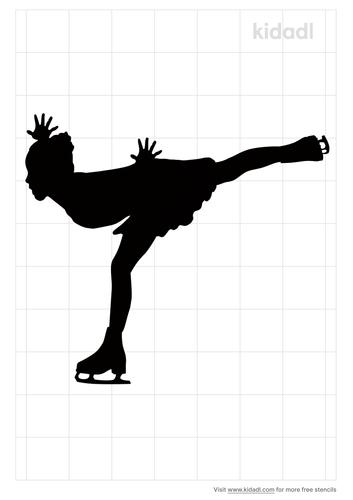 ice-skating-stencil
