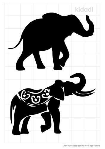 indian-elephant-stencil