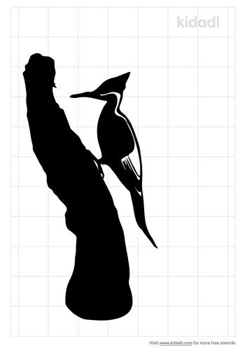 ivory-billed-woodpecker-stencil