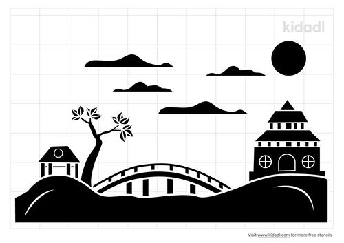 japanese-garden-stencil