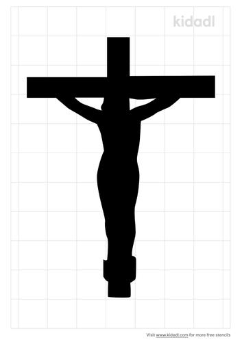 jesus-on-cross-stencil