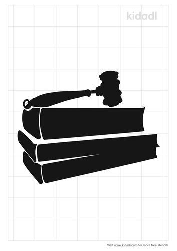 judge-s-gavel-and-law-books-stencil