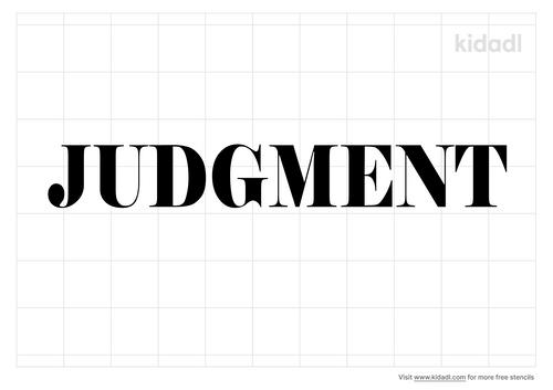 judgment-stencil