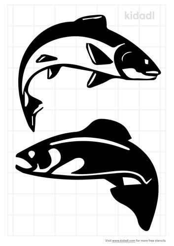 jumping-salmon-fish-stencil