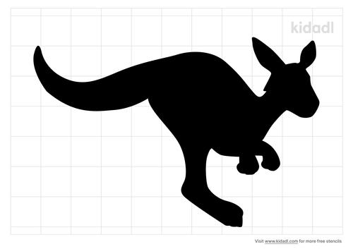 kangaroo-stencil