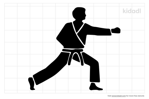 karate-moves-stencils
