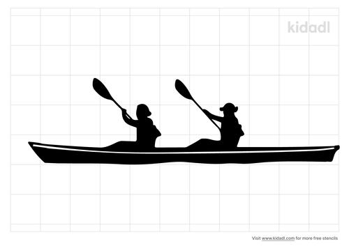 kayak-stencil