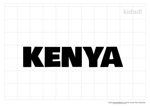 kenya-word-stencil