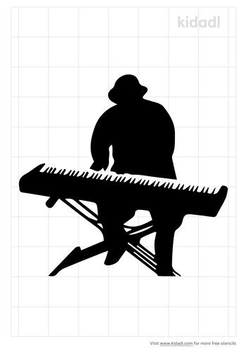 keyboardist-stencil