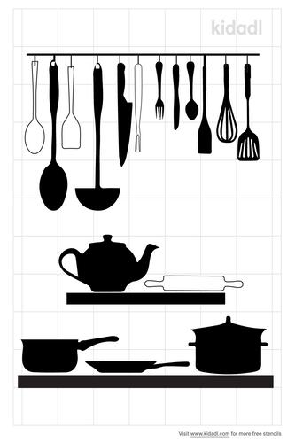 kitchen-utensil-sign-stencil