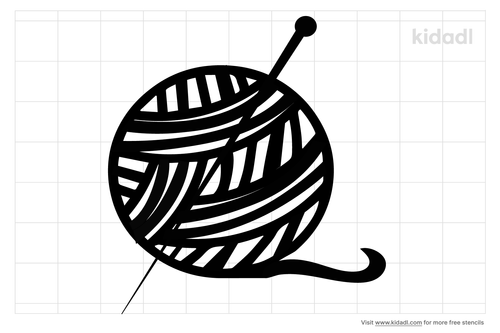 knitting-ball-stencil