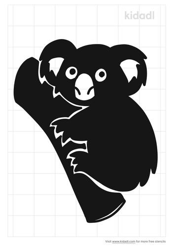 koala-tree-stencil