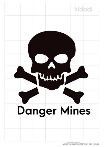 landmine-skull-sign-stencil