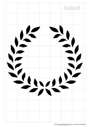 leaf-crown-stencil