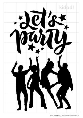 let-s-party-stencil
